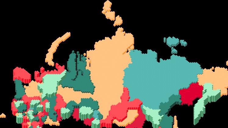 Иллюстрация карты РФ